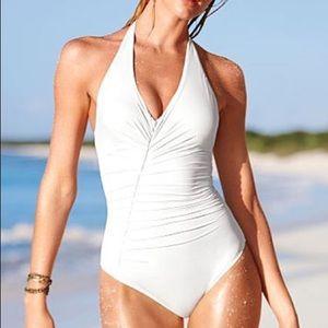 NWOT VICTORIA'S SECRET Pintuck White Swimsuit